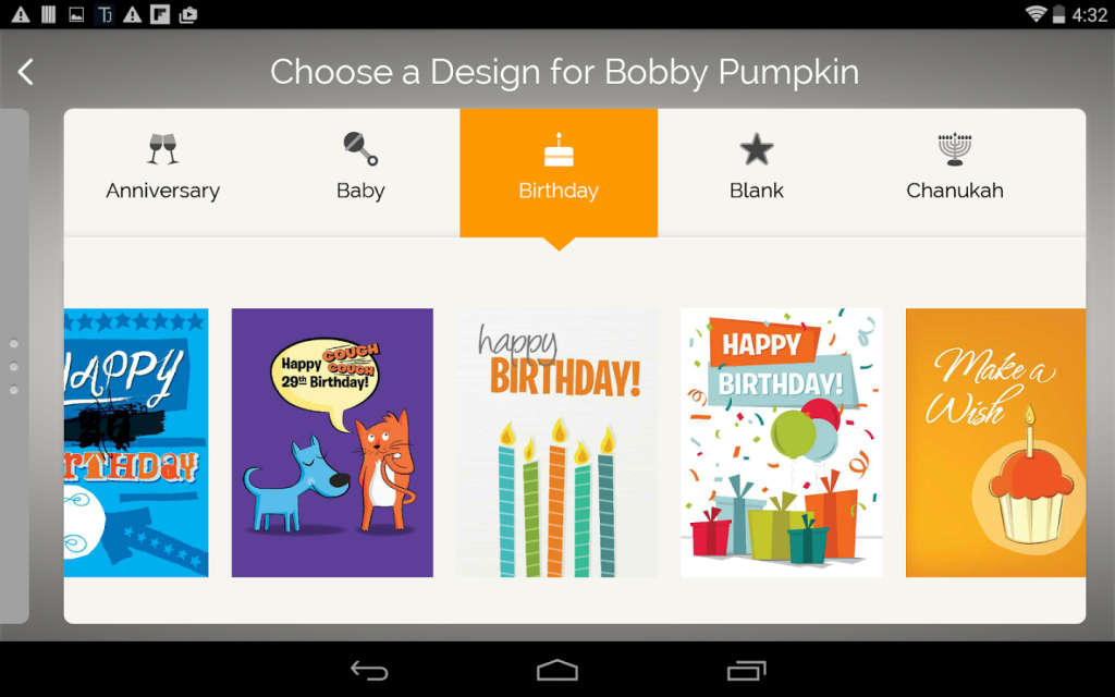 eCards in Amazon's iOS and Android Surprise! App.